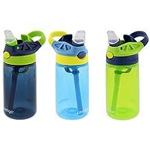 Contigo AUTOSPOUT Straw Kids Gizmo Water Bottle 14-ounce, Nautical/School Boy/Granny Smithy
