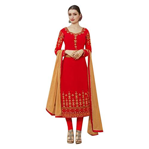 EMPORIUM ETHNIC donne casual straight designer vestito indiano abito kameez designer suit pant salwar pakistano 2692 fwdBawqU