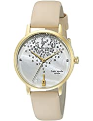 kate spade new york Womens KSW1015 Metro Watch With Beige Leather Band