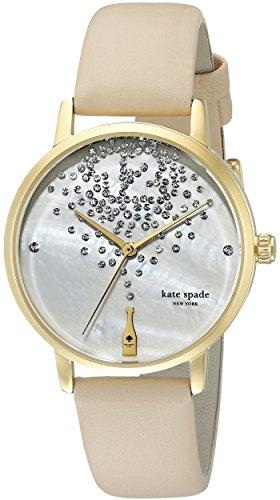 Beige Leather Watch - 5