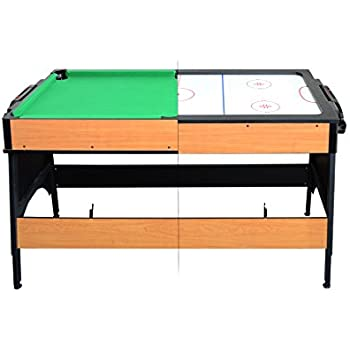 Milliard Dual Pool and Air Hockey Table, 2 in1 Mini Game Table (55in x 26in)