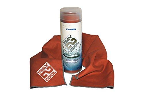 Coolway Microfiber Cooling Towel (Burnt Orange) (Best Way To Wash Golf Clubs)