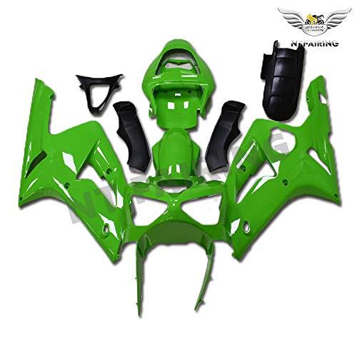 New Green Fairing Fit for Kawasaki Ninja 2003 2004 ZX6R 636 ZX-6R Injection Mold ABS Plastics Aftermarket Bodywork Bodyframe 03 04