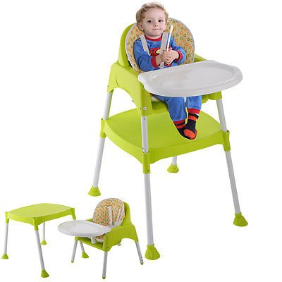 Toddler Restaurant Style High Chair (3 in 1 Baby High Chair Convertible Table Seat Booster Toddler Feeding)