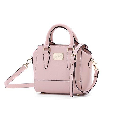 GUANGMING77 La Molla Piccola Borsa Borsa Tracolla Borsa Messenger Bag,Vitoria Grigio (Small Edition) Paris Pink (small Edition)
