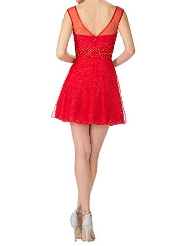 Tanzenkleider Oberhalb La mia Promkleider Cocktailkleider Braut Partykleider Spitze von Sexy Pink Abendkleider Mini Knie g8vd8nrqZw