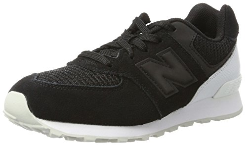 Nuovo Equilibrio Unisex-kinder Kl574wtg M Sneakers Negro / Blanco