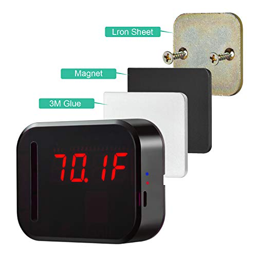 WiFi Temperature Humidity monitor, LED Digital Thermometer Hygrometer monitor, indoor/outdoor Temperature Humidity sensor with Alerts. Free iPhone/Android Apps, web browser monitor 24/7 from Anywhere by Ismart56 (Image #6)