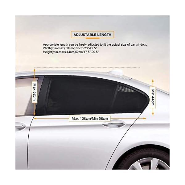 Depory Tendine Parasole Auto Finestrino Laterale per Bambini Universali parasole auto bambini dell'Auto Block Raggi UV… 2 spesavip