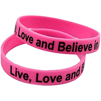 Relddd Silicone Wristbands With Sayings Live Love And Believe Cure Silicone Bracelets For Men Encouragement Set Pieces Estimated Price £25.99 -