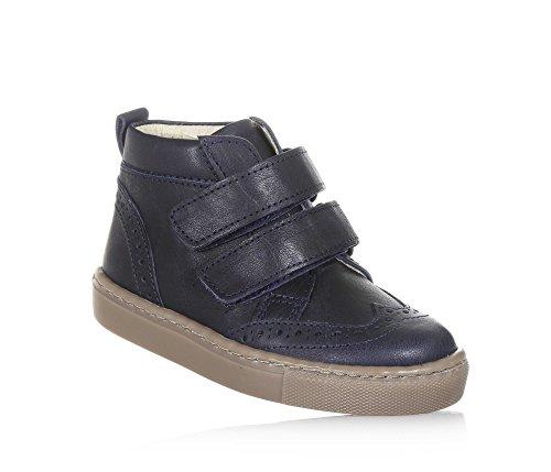 Chaussure fermeture cuir made Filles avec double et Fille look 32 in en contemporain bleue Italy PÈPÈ chic gqdBwOtg