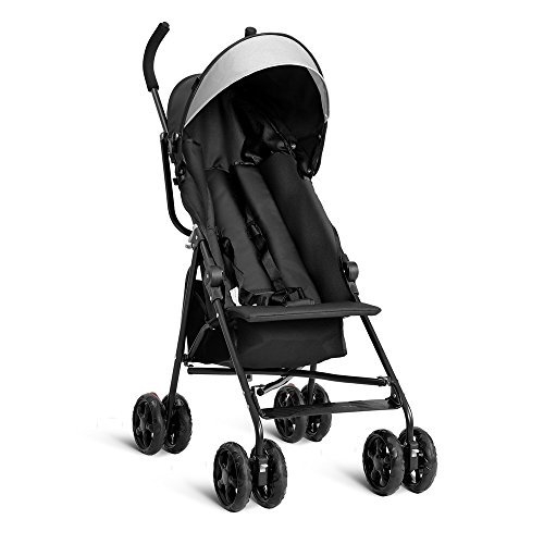 Umbrella Baby Stroller Toddler Travel Sun Canopy with Storage Basket (Black) ()