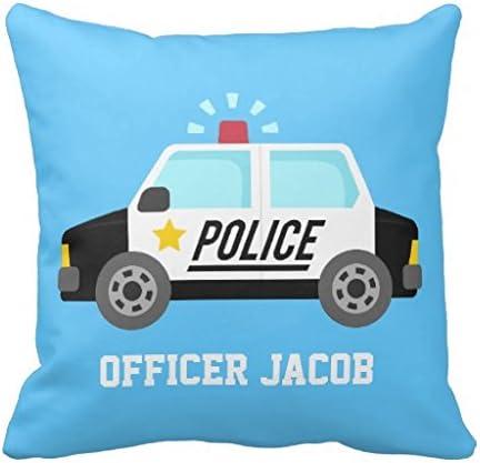 Classic coche de policía con sirena para niños habitación funda de almohada 16 x 16 pulgadas: Amazon.es: Hogar