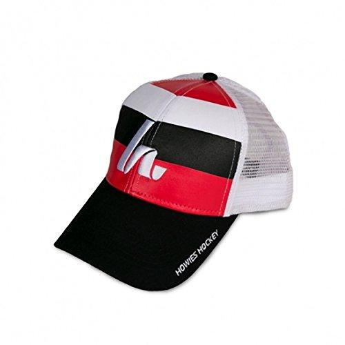 Howies Hockey Tape Post Game Lid Adjustable Mesh Hat (Black/Red)