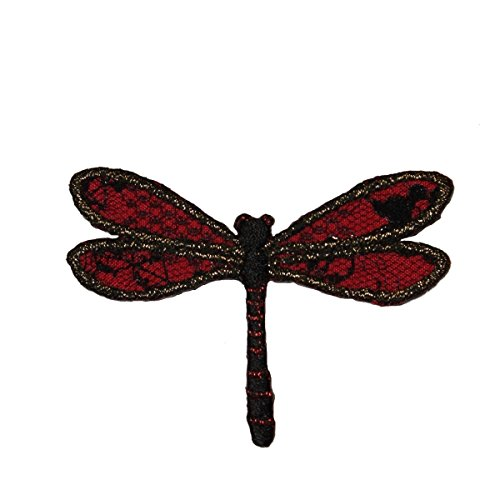 ID 0468Z Dragon Fly Flying Patch Garden Fairy Bug Embroidered Iron On Applique