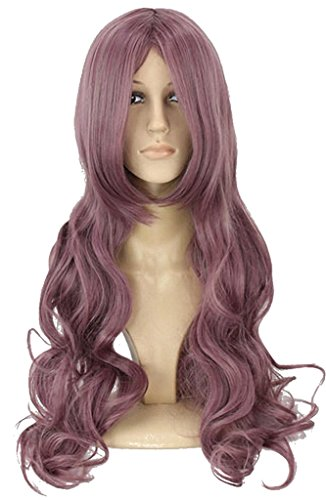 Drasawee Miss Girls Universal Natural Full Curly Wavy Hair Party Glamour Cosplay Wigs Fancy ()