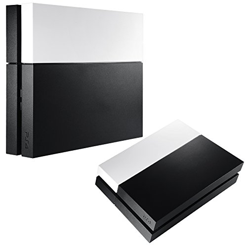 eXtremeRate Faceplate Replacement Cover HDD Bay Hard Drive Shell For Playstation 4 PS4 Console Metal-like Metallic White