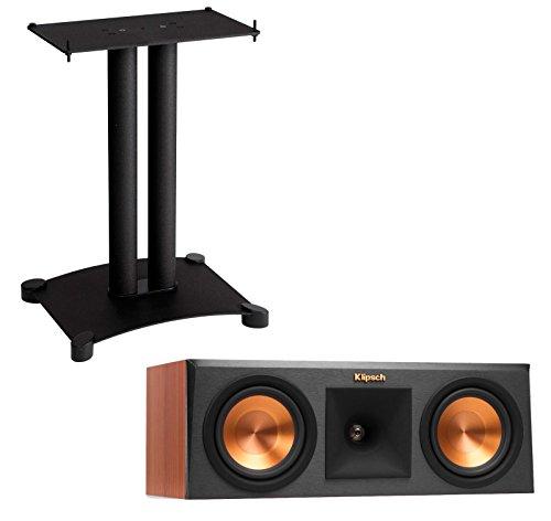Steel Pillar Speaker Stands (Klipsch Reference Premiere RP250C (Each) Center Channel Speaker And SFC22B1 (Each) Center Channel Speaker Stand - Cherry)