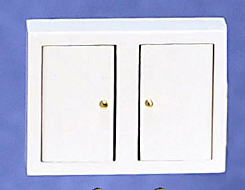 - Miniature 1:12 Scale Kitchen Wall Cabinet in White by Town Square Miniatures
