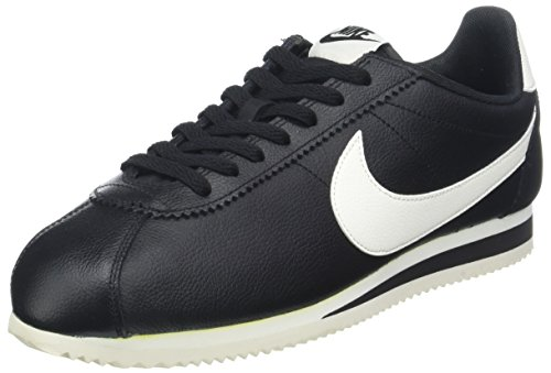 Nike WoMen WMNS Internationalist PRM Trainers, Nero Schwarz (Black )