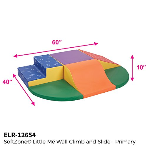 ECR4Kids SoftZone Little Me Play Wall Climb and Slide, Primary (6-Piece Set) by ECR4Kids (Image #1)
