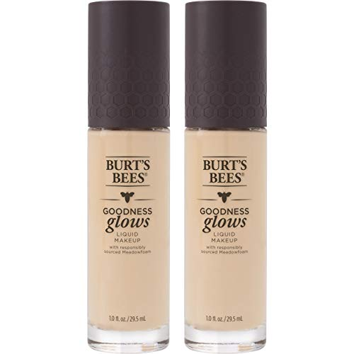 (Burt's Bees Goodness Glows Liquid Foundation, Ivory, 1.0 Ounce, Pack of 2)