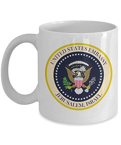 Price comparison product image United States Embassy Jerusalem USA Israel Commemorative Souvenir Coffee 11oz Mug