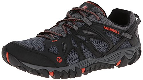 Merrell Men's All Out Blaze Aero Sport Hiking Water Shoe, Black/Red, 9 M US]()