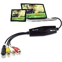 DIGITNOW! Convertidor de captura de vídeo USB, VHS a DVD Digital Grabber Grabador , Capturadora Digitalizadora de vídeo…
