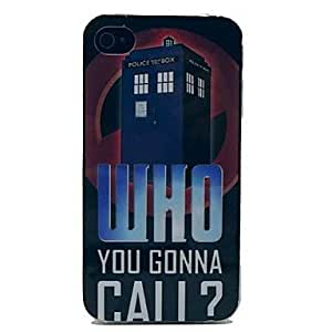 LIMME- Police Box Pattern TPU Soft Case for iPhone 4/4S