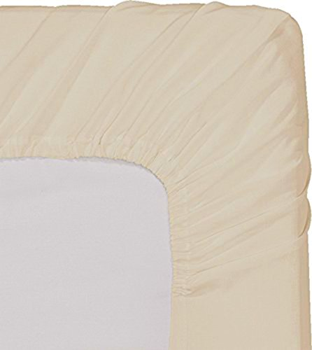 Fitted Sheet (Queen - Beige) - Deep Pocket Brushed Velvety Microfiber, Breathable, Extra Soft and Comfortable - Wrinkle, (Queen Bed Sheets Beige)