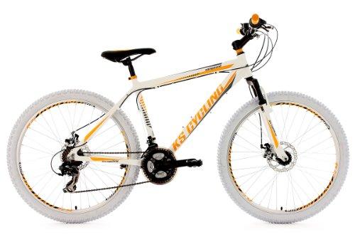 KS Cycling Fahrrad Mountainbike Hardtail Compound 46 cm, Weiß, 26, 100M