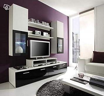 Chloédesign Hydra Mini Mueble para televisor, Madera, Blanco Y Negro, Talla única: Amazon.es: Juguetes y juegos