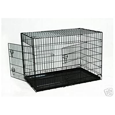 """42"""" Pet Wire Cage with ABS Pan from BestPet"""