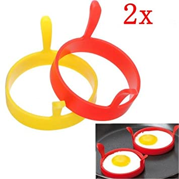 [Free Shipping] Kitchen Silicone Fried Egg Device Round Ring Cook Mould Modelling //