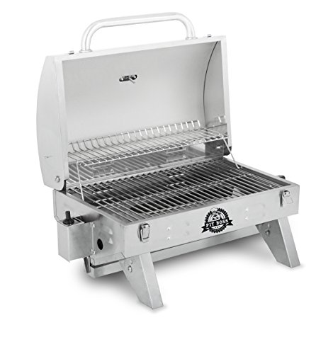 Pit boss grills sq in stainless steel portable grill