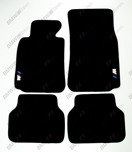 NEW CAR FLOOR MATS BLACK with ///M EMBLEM for BMW 5 series E