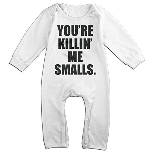 Sandlot Smalls Costume (NOXIDN SMWI Baby Infant Romper You're Killin Me Smalls Long Sleeve Jumpsuit Costume,White 18 Months)
