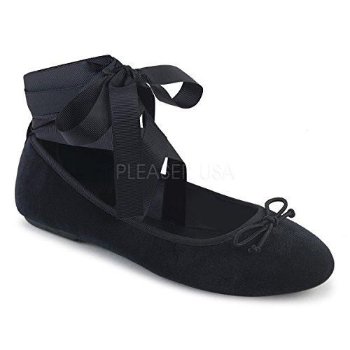 DEMONIAW Womens DRAC-03/BVEL Flats (Demonia Tie)