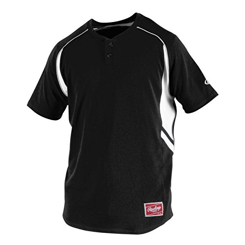 Rawlings Men's 2-Button Jersey, Black, X-Large
