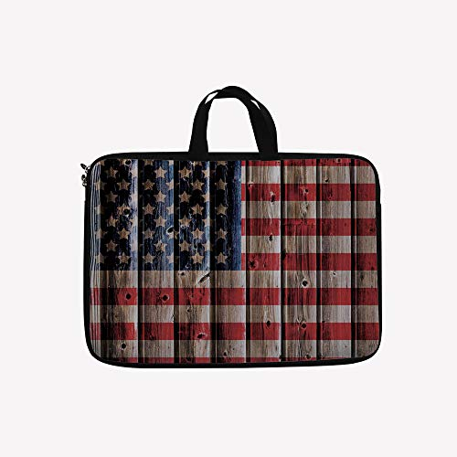 - 3D Printed Double Zipper Laptop Bag,Day Liberty Freedom Democracy Country Patriarchal,15 inch Canvas Waterproof Laptop Shoulder Bag Compatible with 15