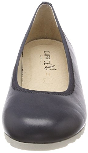 Caprice Heels Women's Nappa Closed Ocean 22315 Blue 855 Toe qwOq6S