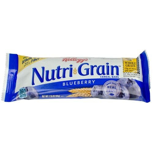 Kelloggs Nutrigrain Blueberry Cereal Bar, 1.55 Ounce -- 96 per case. by Kellogg's