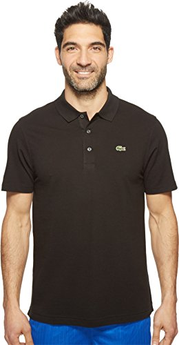 Lacoste Men's Short Sleeve Super Light Jersey Polo Shirt, Black,  Size 6 (Mens Lacoste Polo Shirts)