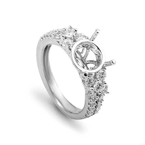 (Simon G. 18K White Gold Diamond Engagement Ring Mounting 21685557W)