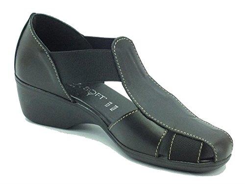 Cinzia Soft 8050 Nero - Mocasines de Piel para mujer negro