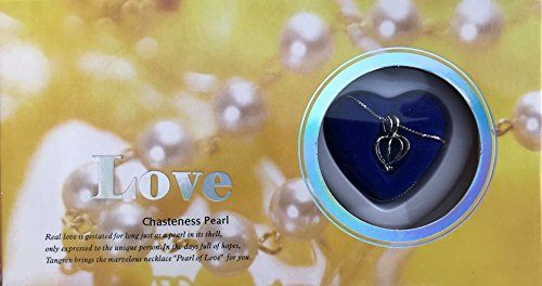 Oyster Pearl (Love Purity Wish Pearl Kit - Harvest Your Own Pearl from a real freshwater Oyster, Comes with Silver Plated Necklace - Great for Gift!)