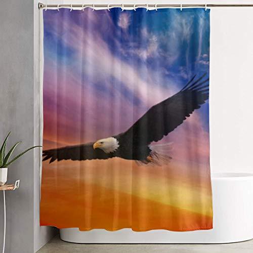 Alan Sailsbury Alpha-Art Flying Eagle Shower Curtain Waterproof Bathroom Decor Set with Hooks 60'' X 72'' Machine Washable