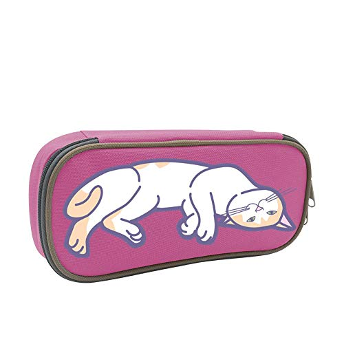 A Lazy Cat Large Capacity Multi-Layer Pencil Case Back To School Choice Pink by dreambest