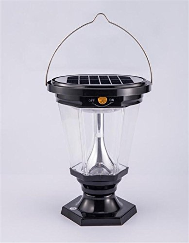 ELEGENCE-Z Solar Light Home 3W LED Emergency Light Light Energy-Saving Mobile Light Horse Lantern Outdoor Camping Light Tent Light Black White Beautiful ()